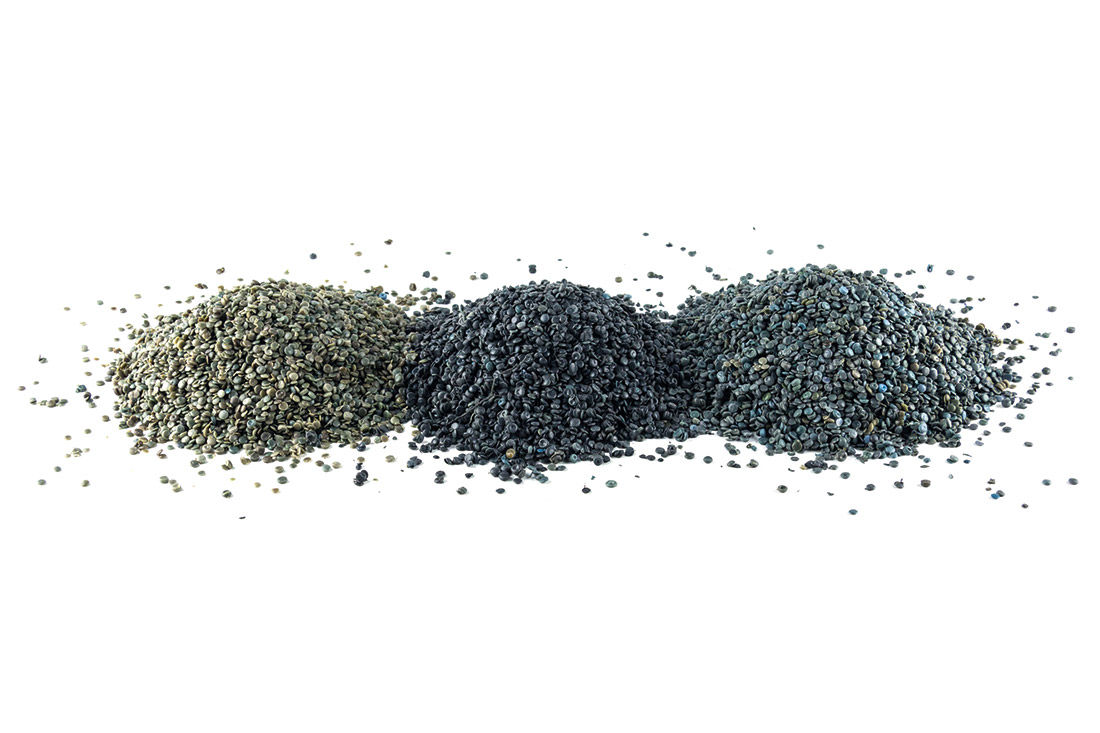 Granules RacyStrong LD-PE and HD-PE from separate collection and agricultural film, produced by PLASTIPOL CERTFIED PSV and CARBON FOOT PRINT